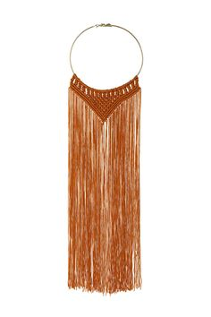 Crochet Tassel Necklace   TOPSHOP saved by #ShoppingIS