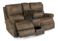 Davis Power Reclining Console Sofa by Flexsteel at Crowley Furniture in Kansas City