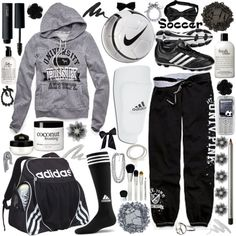 """""""Soccer Tryouts 2 U OF PiNK"""" by stereohearts on Polyvore"""