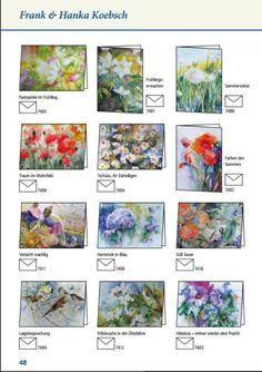 Unsere Aquarelle als Kunstkarten im Angebot des Präsenz Verlages   Aquarelle von Hanka & FRank Koebsch als Kunstkarten im Frühlings- und Sommerprogramm 2016 des Präsenz Verlages