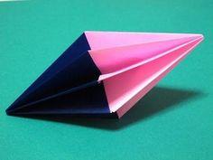 Origami - How to make a Diamond (Christmas Decoration) - YouTube