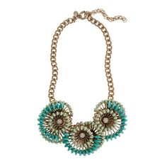 Cactus Flower Necklace - $135 - Reminds me of the other Palm Springs inspired creme de menthe necklace that I have and L.O.V.E.