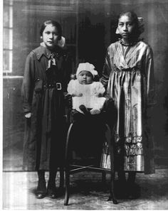 L-R: Mildred Big Eagle, Mary, Agnes - Osage - circa 1896 — with Jeffrey R Norwood.