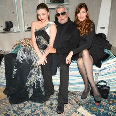 Miranda Kerr in Just Cavalli with Roberto Cavalli and Carol Alt at the opening of the new Just Cavalli flagship store. Photo by BFAnyc.com.