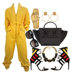 A fashion look from February 2016 featuring Yves Saint Laurent, high heels sandals and celine handbags. Browse and shop related looks. Boujee Outfits, Polyvore Outfits, Classy Outfits, Stylish Outfits, Fashion Outfits, Fashion Trends, Polyvore Fashion, Love Fashion, Fashion Looks