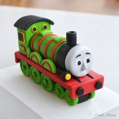 Henry from Thomas & Friends Cake Topper Tutorial by Crumb Avenue.