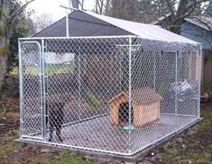 Diy Dog Kennel Roof Ideas Kennels Flooring