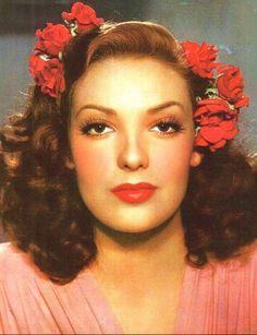 vintage-retro:    Linda Darnell, 1940's