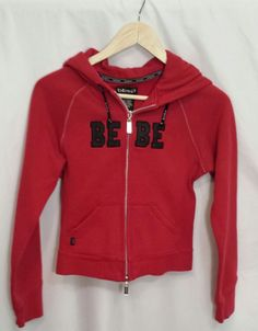 Bebe Hoodie Size S 100% Cotton #bebe #Hoodie