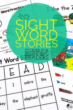 Learn and practice sight words with these stories and sight word practice.