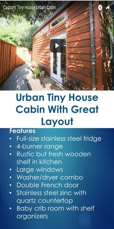 Urban Tiny House Cabin With Great Layout | Tiny Quality Homes