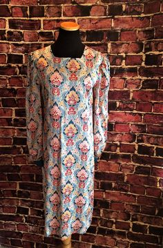 Fabulous Floral Statement Print Silk Tunic Dress, Sz. 8 by CobbWebbTreasures on Etsy