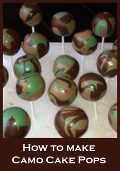 How to make Camo and Swirl Cake Pops
