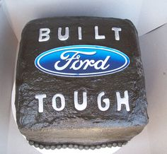 A Ford cake for my nephew's 9th birthday.