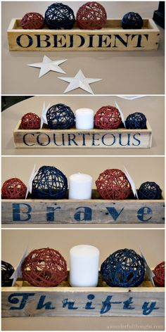 Court of Honor Table Decorations | Manning Family Tree: We ...