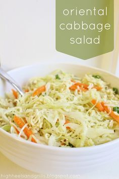 I love cabbage. While all the kids were picking it out of their meals, growing up, I was asking everyone if I could have theirs. This oriental cabbage salad definitely hit the Asian Recipes, New Recipes, Cooking Recipes, Favorite Recipes, Healthy Recipes, Quick Recipes, Oriental Recipes, Asian Foods, Soup Recipes