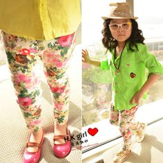 Aliexpress.com : Buy Female child legging ink flower legging 306 from Reliable girls pant suppliers on Fashion Forward Group. $5.19
