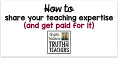 how to share your teaching expertise and get paid for it