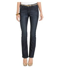 Lee Platinum Elise Perfect-Fit Straight-Leg Jeans, Neptune Wash  With a rich blue denim wash and a figure-flattering straight-leg cut, this pair looks right on trend and you'd never even guess there's a tummy panel hidden inside. Also available in petite sizes.  To buy: $62, macys.com.