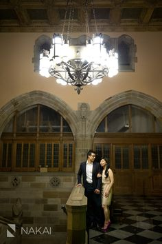 Northwestern Engagement Pictures at Deering Library in Evanston, IL. Photos by Chicago Engagement Wedding Phootgrapher: Nakai Photography http://www.nakaiphotography.com
