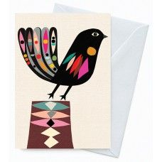 Eco Friendly Greeting Card – The Little Fantail Designed by Inaluxe for Earth Greetings.