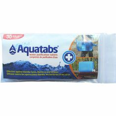 Aquatabs Water Purification Tablets 334 mg CAD Pack Water Purification Tablets, Making Water, Water Sources, Disaster Preparedness, Life Cycles, Girl Scouts, Better Life, Survival, How To Make