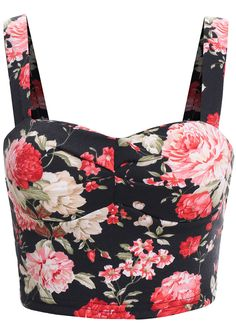 Shop Black Spaghetti Strap Floral Cami Top online. SheIn offers Black Spaghetti Strap Floral Cami Top & more to fit your fashionable needs.
