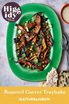 This Roasted Carrot Traybake is great for any veggie feast or buffet with your nearest and dearest. Find the recipe here: LINK Eat The Rainbow, Family Kitchen, Roasted Carrots, Green Beans, Buffet, Vegetables, Link, Recipes, Food