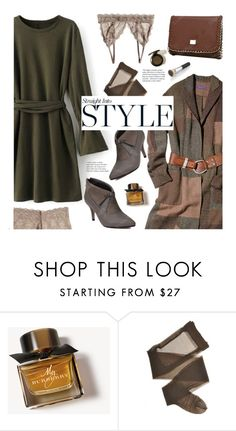"""Untitled #2382"" by beebeely-look ❤ liked on Polyvore featuring Burberry, dress, sammydress, streetwear, winterstyle and Dressunder50"