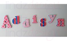 Hand-Painted Name Letters from Lindzdesign Name Letters, Custom Design, Hand Painted, Logos, Painting, Paintings, A Logo, Draw, Drawings
