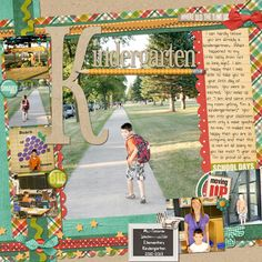Kindergarten Layout - Sweet Shoppe Gallery, Shawna Clingerman Kit and Cindy Schneider Template by lovely1m