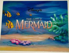 Disney The Little Mermaid Exclusive 4 Lithograph's Portfolio - Framing Quality
