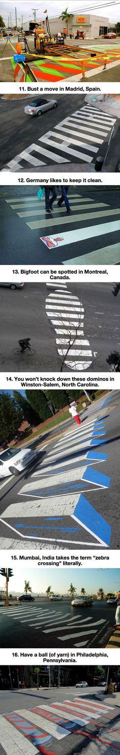 Mind Blowing Crosswalks