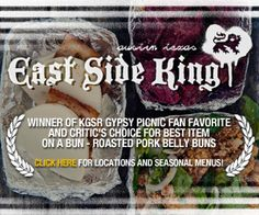 East Side King: Top Chef Texas winner Paul Qui's food truck serving delicious Asian street food late night 7 days a week. Locations: The Liberty Bar, The Grackle, and now Shangri-La