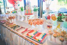 Dessert table from a Rainbow Birthday Party on Kara's Party Ideas | KarasPartyIdeas.com (7)