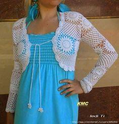 Irish crochet &: Ажурный жакет и туника одинаковым узором.