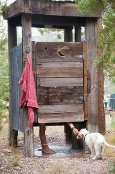 Wooden shower