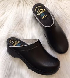 Women's Clogs Sz 35 Clog Master Made By Sven Clogs Black US Sz 5 Wood Base | Clothing, Shoes & Accessories, Women's Shoes, Flats & Oxfords | eBay!