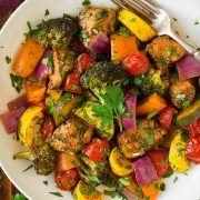 Balsamic Chicken and Veggie Sheet Pan Dinner   Cooking Classy
