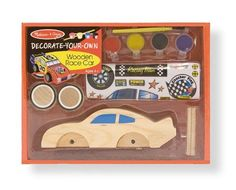 Melissa  Doug DecorateYourOwn Wooden Race Car Craft Kit *** Be sure to check out this awesome product.Note:It is affiliate link to Amazon.