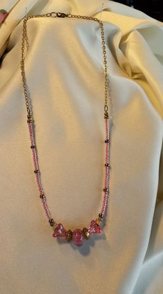 CANDY PINK Necklace & Earrings by BeadOriginalsbyJudi on Etsy