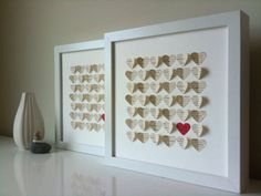 First Anniversary Gift Personalized 3D Hearts made von SuzyShoppe
