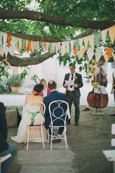 in Lower Austria! Garden Wedding, Austria, Wedding Colors, Wedding Ceremony, Wedding Bunting, Table Decorations, Colorful, Home Decor, Vineyard Wedding