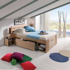 Lit A Tiroirs Janis En 2020 Mobilier Maison Idees De Lit Et Lit