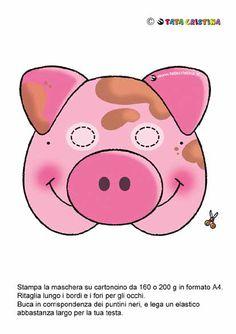 pig mask by alba Pig Crafts, Crafts For Kids, Baby Sensory Board, Wolf Craft, Pig Mask, Pig Costumes, Felt Mask, Three Little Pigs, Animal Masks