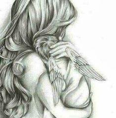 Mom - Angel's Mom -Angel's Mom - Angel's Mom - Mother and baby angel art print ,sympathy gift loss of child, newborn gift Alena Kalchanka Art Mother and baby baby shower newborn gift for mum baby Mama Tattoos, Mother Tattoos, Mother And Baby Tattoo, Angel Baby Tattoos, Angels Tattoo, Angel Drawing, Baby Drawing, Angel Tattoo Drawings, Baby Engel Tattoo
