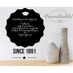 lavagna adesiva da cucina lavagnetta wall stickers premium bakery ... - Lavagne Cucina