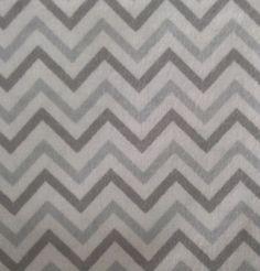 Snuggle Flannel Fabric Chevron Gray Small
