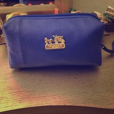 Glam cosmetic bag/ multipurpose pouch Blue brand new, comes with a handle strap! Feel free to make any offer, nothing is too low; all in good fun :) Bags Cosmetic Bags & Cases