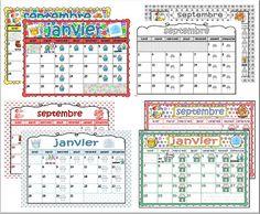 5 modèles de Calendriers pour la classe 2018/2019 3 zones 4 ou 5 jours ! Notebook, Bullet Journal, Cycle 3, Parents, Day Planners, Classroom Calendar, Calendar Templates, Primary Education, Nursery School
